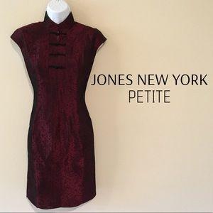 Jones New York Mandarin Collar Sheath